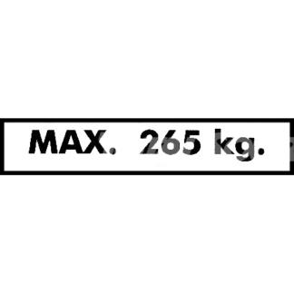 1703794 JLG dekal max 265 kg