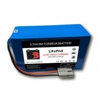 Lithium Batteri bobil 12V 100AH 100A BMS