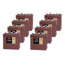 TROJAN T 105 batterier 6 volt tilbud pris 8 pack