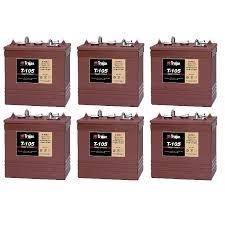 TROJAN T 105 batteri 6 volt tilbud pris 6 pack
